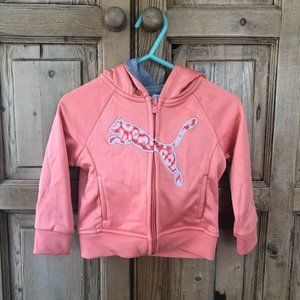12 Months Puma Full Zip Coral Hooded Sweater